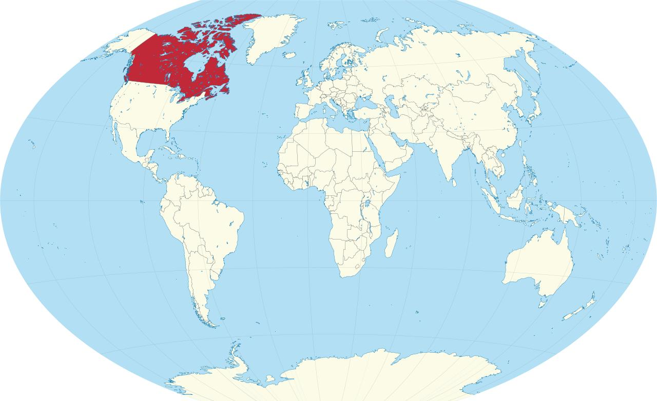 Kanada Karta Svijeta.Kanada Je Zemlja Karta Svijeta Karta Svijeta U Kanadu Izolirani