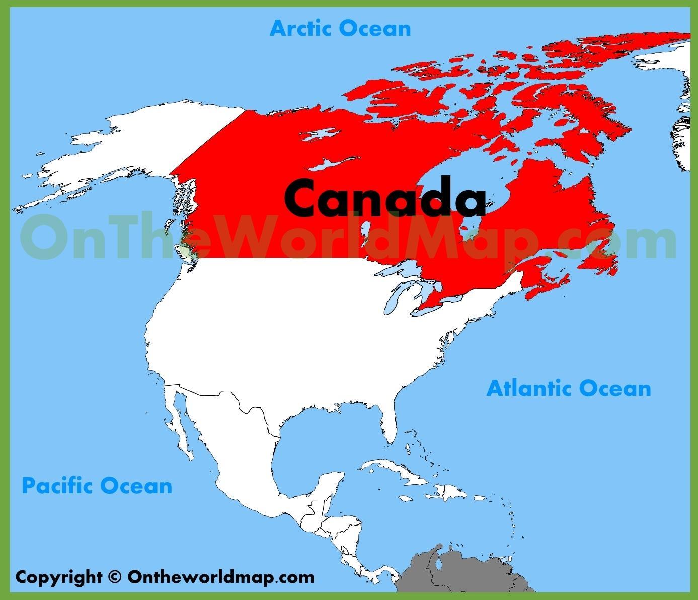 Kanada Karta Svijeta.Sjeverna Amerika Kanada Karta Karta Sjeverne Amerike I Kanade