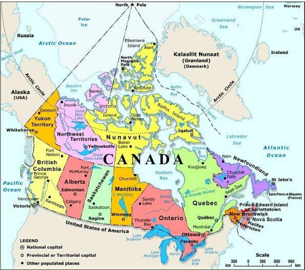 Amerika Gradovi Karta.Zapadna Kanada Kartica S Gradovima Karta Zapadne Kanade Sa